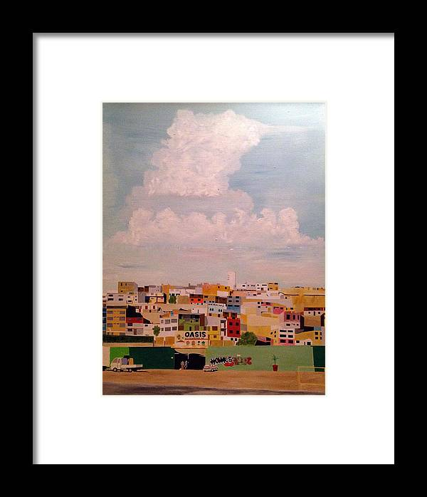 Cityscape Framed Print featuring the painting Lima by Christopher Lewis