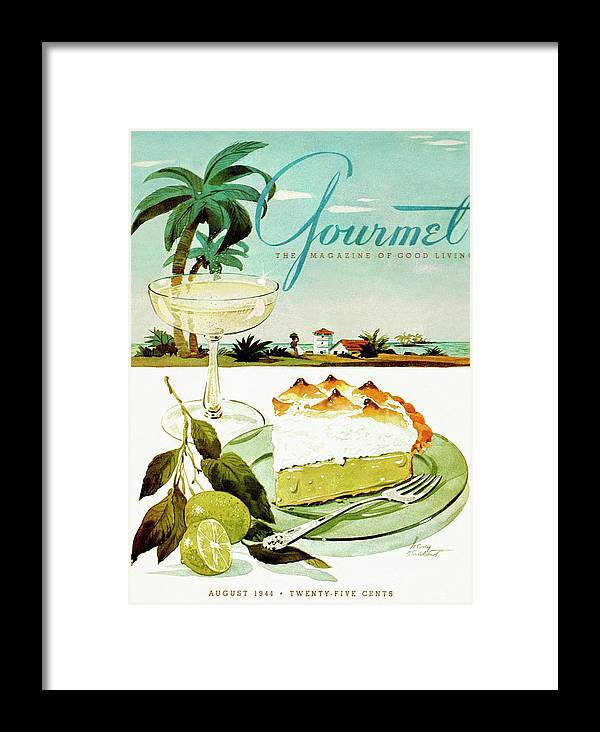 Food Framed Print featuring the photograph Lime Meringue Pie With Champagne by Henry Stahlhut