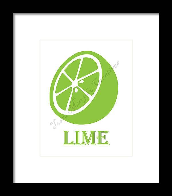 Fruit Framed Print featuring the digital art Lime by Tessa Murphy