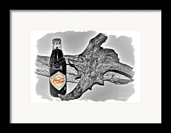 Limited Edition Bottles Framed Print featuring the photograph Limited Edition Coke - No.1130 by Joe Finney