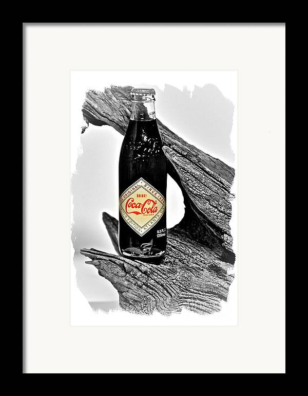 Limited Edition Bottles Framed Print featuring the photograph Limited Edition Coke - No.15 by Joe Finney