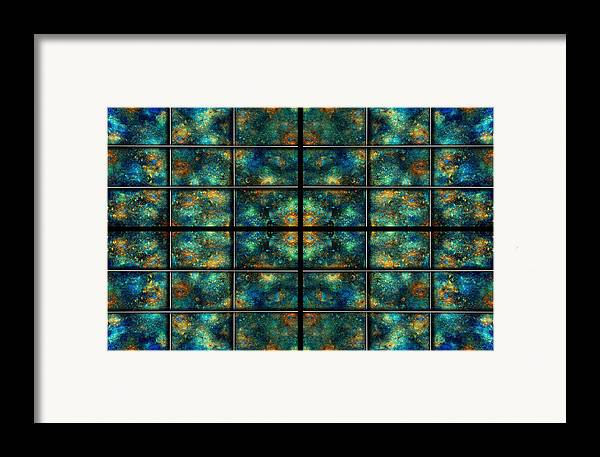 Star Framed Print featuring the digital art Limitless Night Sky by Betsy Knapp