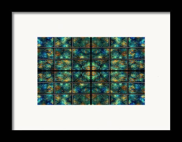 Star Framed Print featuring the digital art Limitless Night Sky by Betsy C Knapp