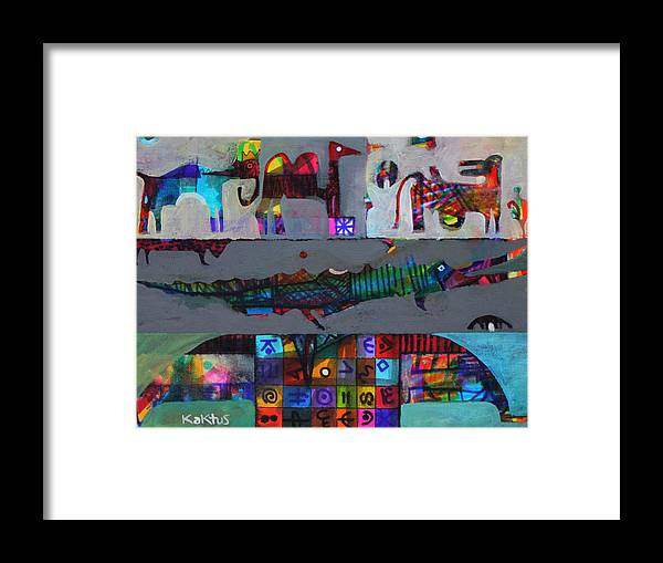Figurative Framed Print featuring the painting Limousine by Aramis Kaktus