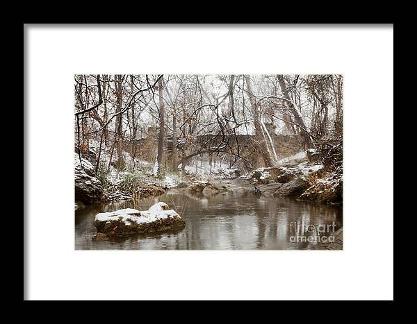 Bridge Framed Print featuring the photograph Lincoln Bridge In Winter by Iris Greenwell