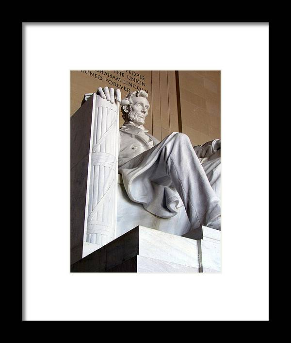 Abraham Lincoln Framed Print featuring the photograph Lincoln II by Elizabeth Dow
