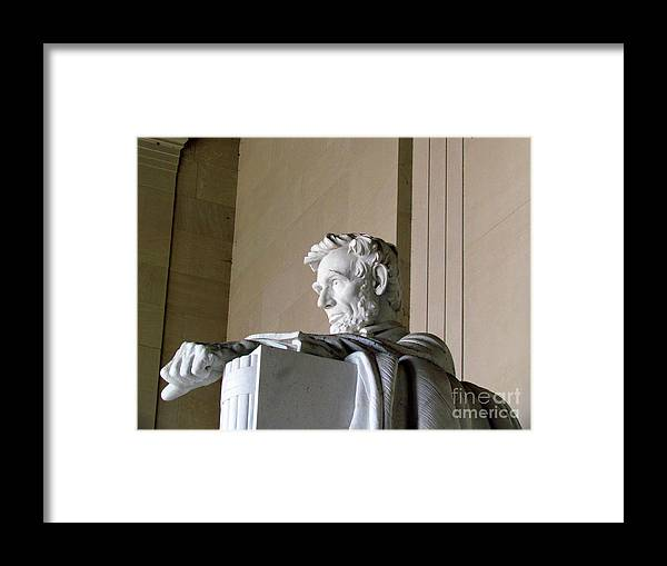 Abraham Lincoln Framed Print featuring the photograph Lincoln IIi by Elizabeth Dow