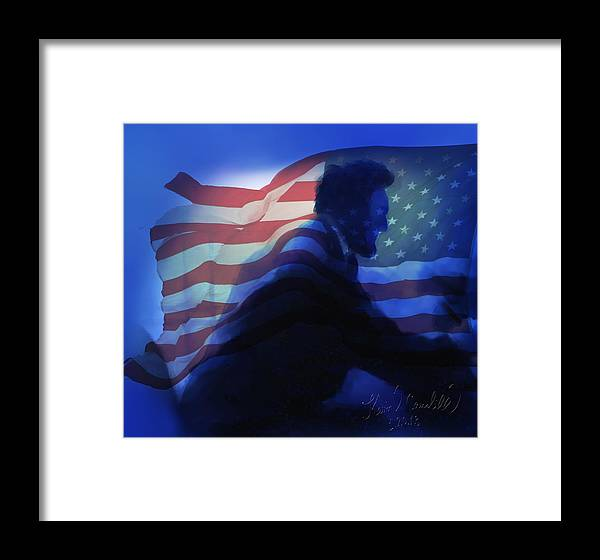 Abe Lincoln Framed Print featuring the mixed media Lincoln by Kevin Caudill