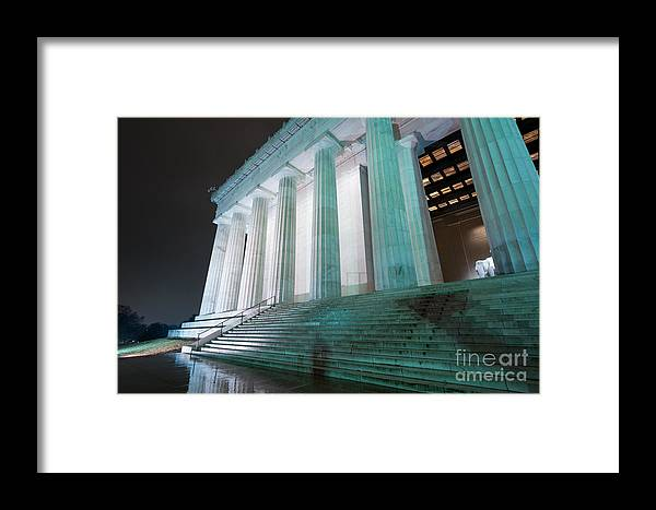 America Framed Print featuring the photograph Lincoln Memorial by Adahm Faehn
