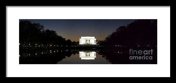 Washington Dc Framed Print featuring the photograph Lincoln Memorial by Michael Baltzgar