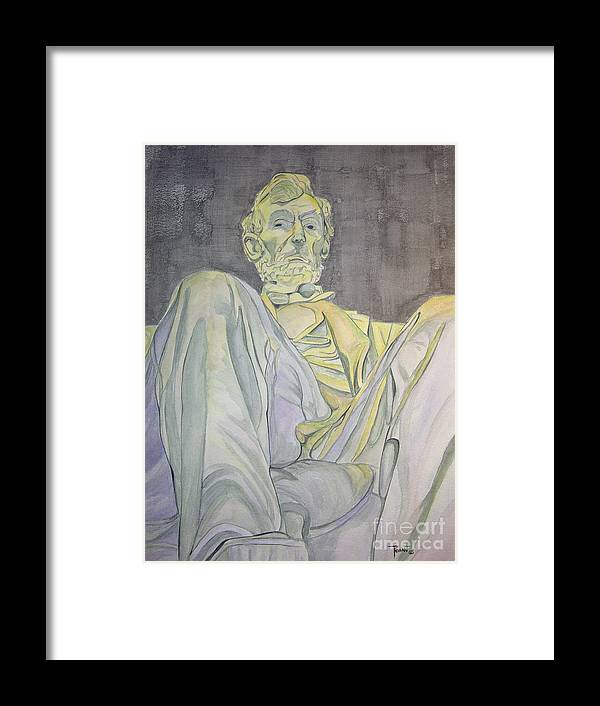 Presidents Framed Print featuring the painting Lincoln by Regan J Smith