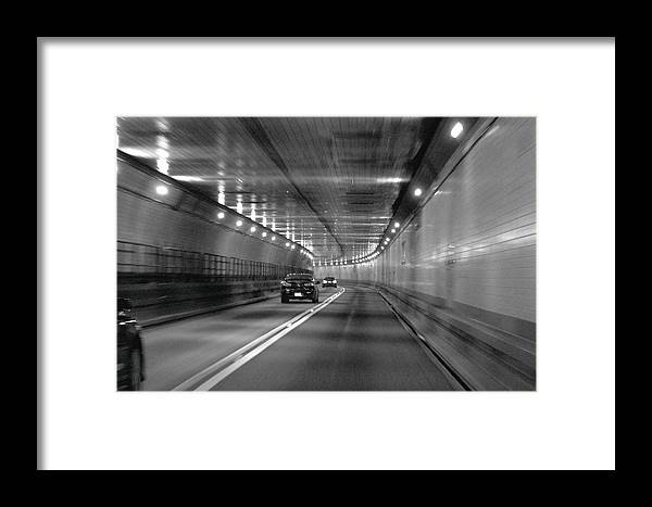 Lincoln Framed Print featuring the photograph Lincoln Tunnel Drive by Howard Markel