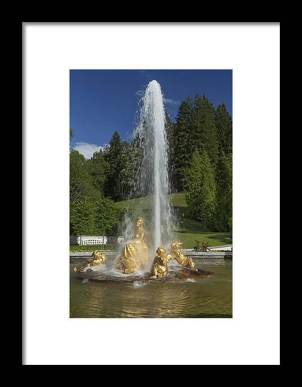Linderhof Framed Print featuring the photograph Linderhof Fountain by Radka Linkova
