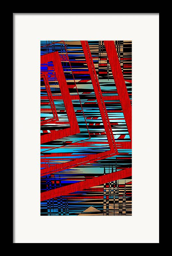 Line Framed Print featuring the digital art Lines And Design by Mario Perez