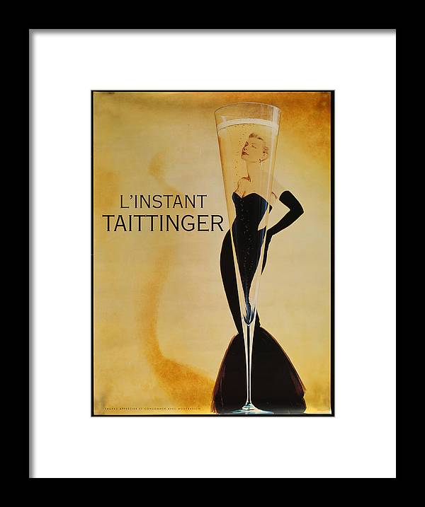 L'instant Taittanger Framed Print featuring the digital art L'Instant Taittinger by Georgia Fowler