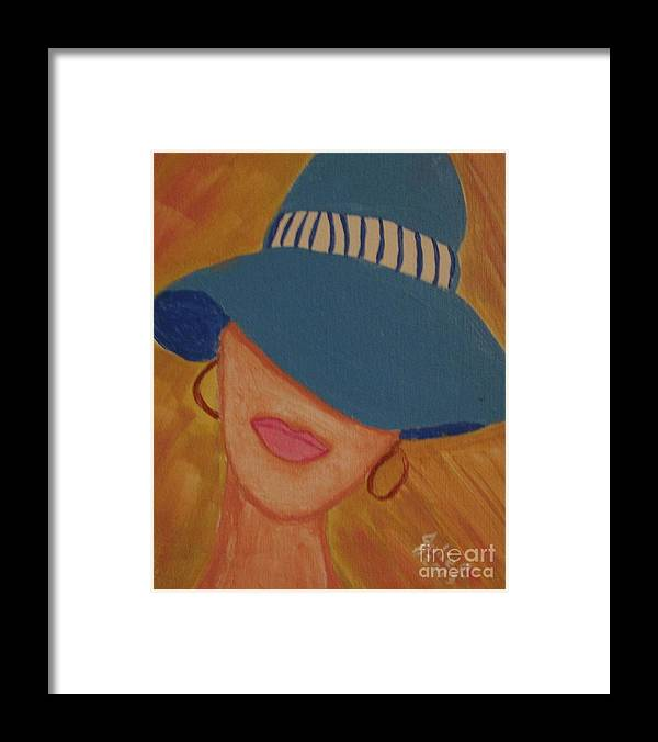 Lips Framed Print featuring the painting Lips V by Julie Crisan