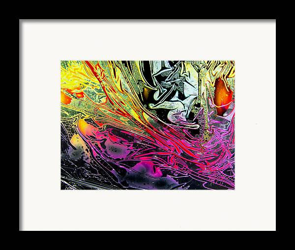 Surrealism Framed Print featuring the digital art Liquid Decalcomaniac Desires 1 by Otto Rapp