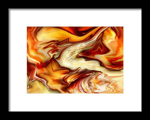 Liquid Framed Print featuring the digital art Liquid Dream by Joyce Rogers