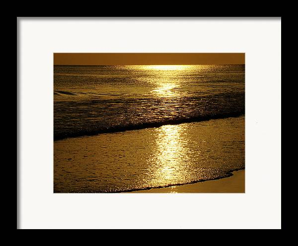 Panama City Beach Framed Print featuring the photograph Liquid Gold by Sandy Keeton