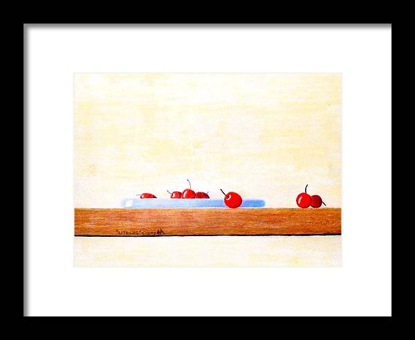 Cherries Framed Print featuring the painting Lite Life by A Robert Malcom