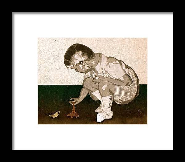 Little Girl Framed Print featuring the photograph Little Girl by Phoebe Quek