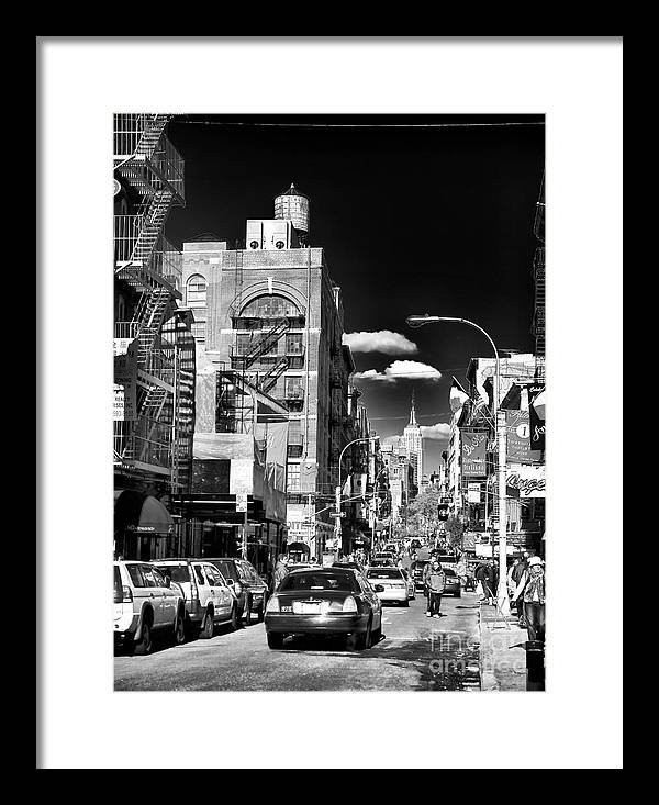 Little Italy Walking Framed Print featuring the photograph Little Italy Walking by John Rizzuto