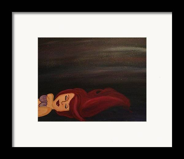 Disney Framed Print featuring the painting Little Mermaid by Oasis Tone