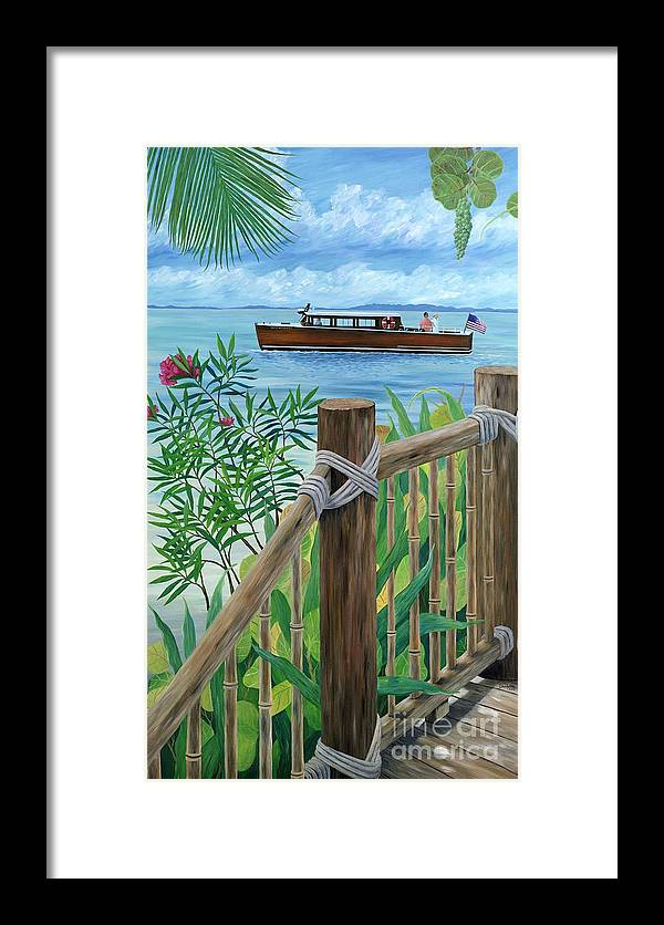Island Framed Print featuring the painting Little Palm Island by Danielle Perry