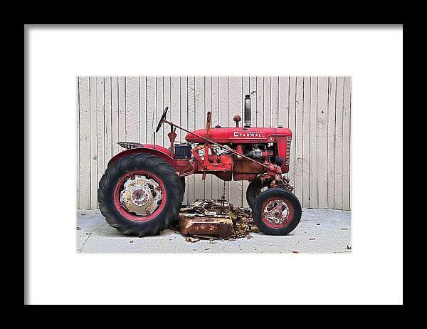 Farmall Framed Print featuring the photograph Little Red Farmall by Craig Burgwardt