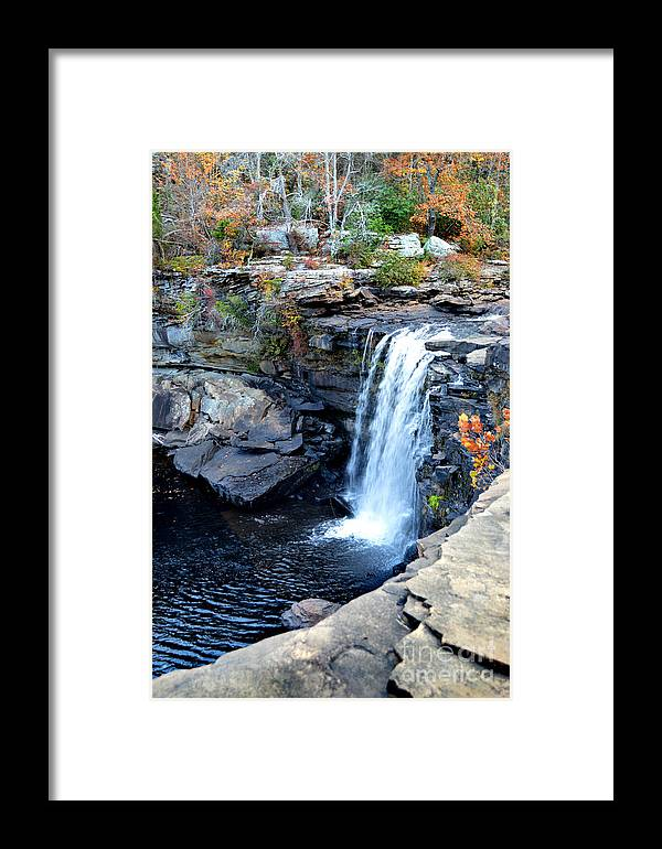 Water Framed Print featuring the photograph Little River Falls by Casey Sims