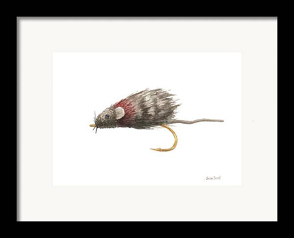 Fly Fishing Framed Print featuring the painting Little Rusty by Sean Seal