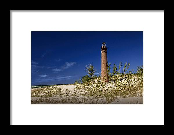 Art Framed Print featuring the photograph Little Sable Point Light No.0285 by Randall Nyhof