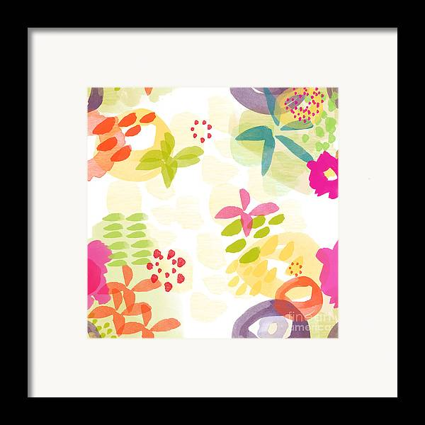 Flowers Framed Print featuring the painting Little Watercolor Garden by Linda Woods