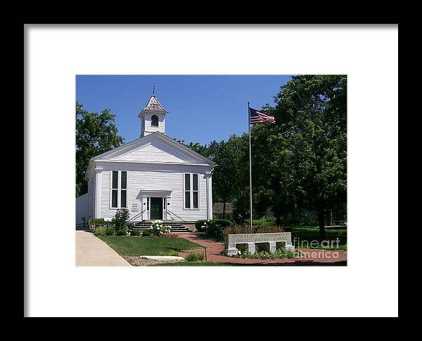 Little Framed Print featuring the photograph Little White School by Laurie Eve Loftin