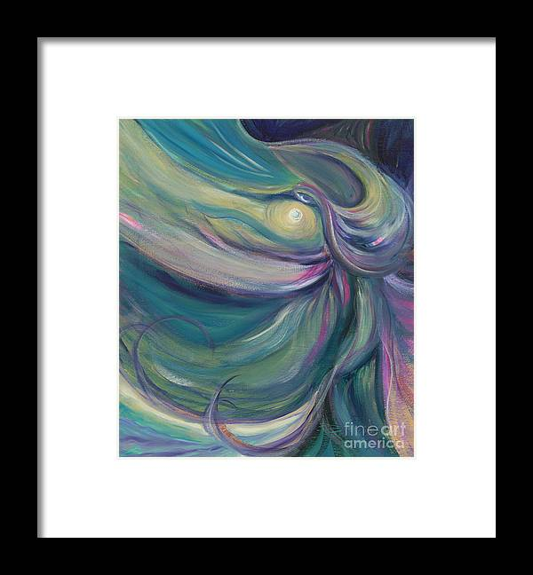 Dance Framed Print featuring the painting Liturgical Dance by Nadine Rippelmeyer