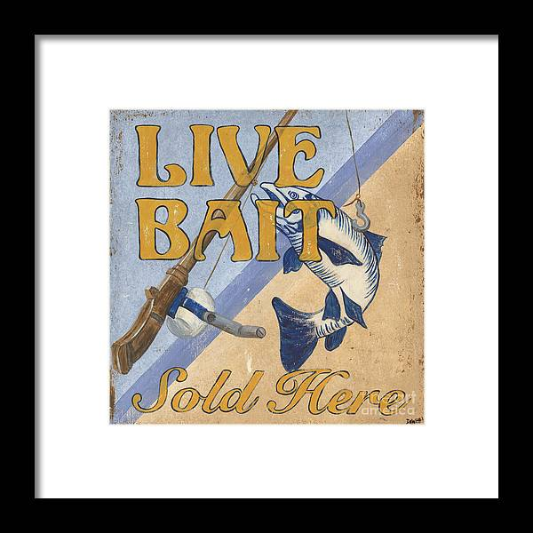 Live Framed Print featuring the painting Live Bait by Debbie DeWitt
