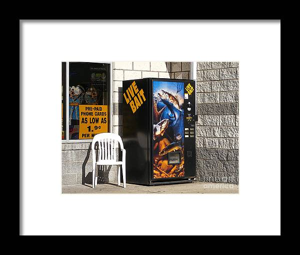 Fishing Framed Print featuring the photograph Live Bait by Melissa Lightner
