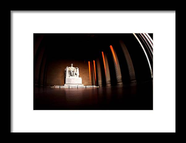 Lincoln Memorial Framed Print featuring the photograph Live by the Light by Mitch Cat