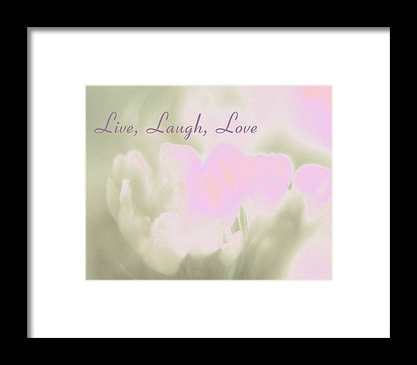 Live Framed Print featuring the photograph Live Laugh Love by Penny Hunt