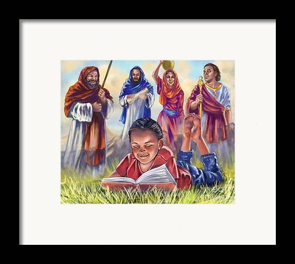 Christian Art Framed Print featuring the digital art Living Bible by Tamer and Cindy Elsharouni