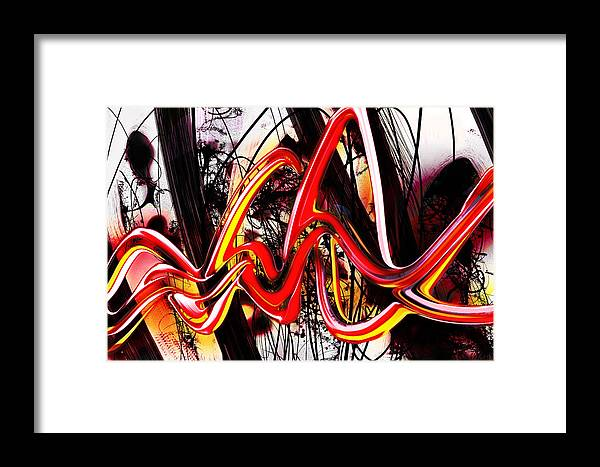 Banana Framed Print featuring the digital art Living Color by Larry Williamson