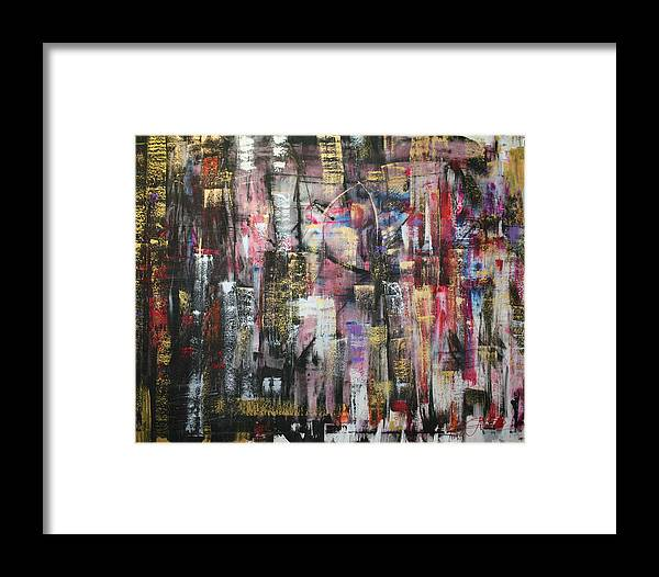 Jack Diamond Art Framed Print featuring the painting Living In The City by Jack Diamond