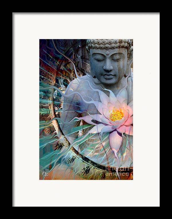Buddha Framed Print featuring the painting Living Radiance by Christopher Beikmann