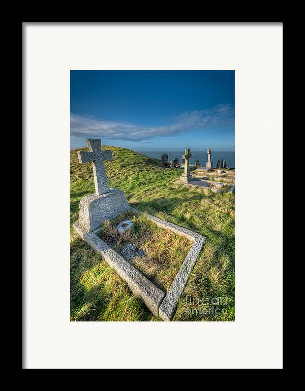 Anglesey Framed Print featuring the photograph Llanbadrig Cemetery by Adrian Evans