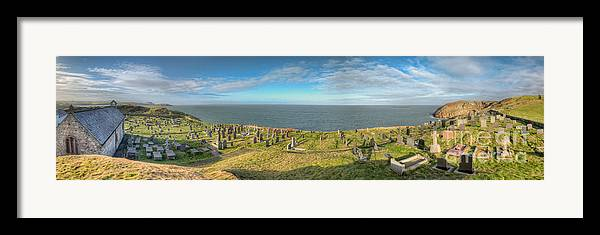 Anglesey Framed Print featuring the photograph Llanbadrig Church Panorama by Adrian Evans