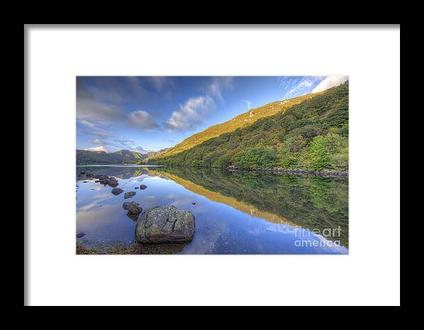 Llyn Framed Print featuring the photograph Llyn Crafnant by Darren Wilkes