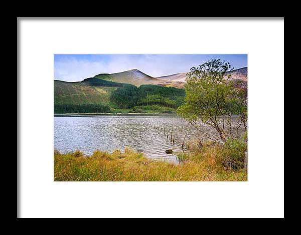 Landscape Framed Print featuring the photograph Llyn Cwellyn In Snowdonia National Park Towards M by Matthew Gibson