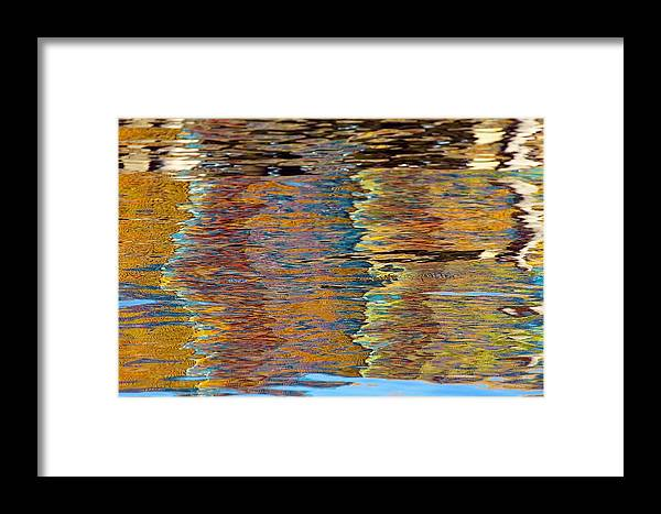 Abstract Framed Print featuring the photograph Lobster Trap Reflections by Stuart Litoff