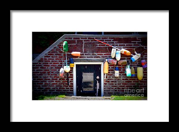 New England Framed Print featuring the photograph Lobstermans House by Kevin Fortier