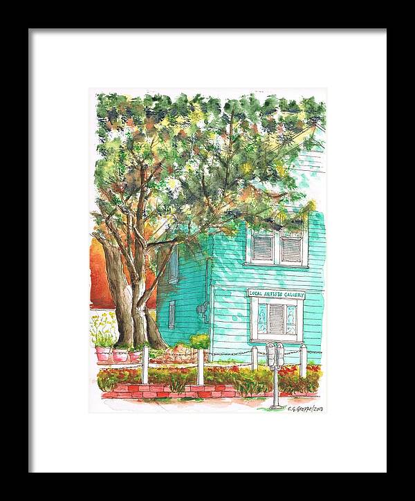 Local Artists Gallery Framed Print featuring the painting Local Artists Gallery, Monterey, California by Carlos G Groppa